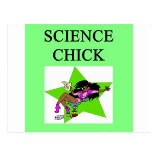 science chick postcard
