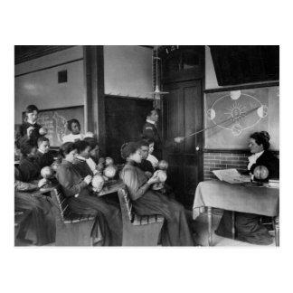 Science Class 1899 Postcard