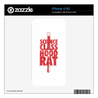 Science Class Hood Rat Skin For iPhone 4