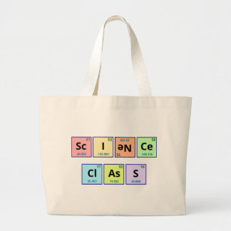 Science Class Large Tote Bag