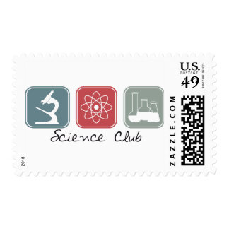 Science Club (Squares) Postage Stamps
