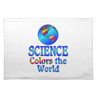 Science Colors the World Cloth Placemat