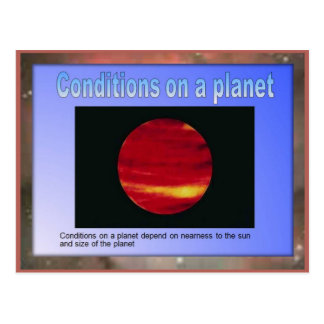 Science,  Conditions on a planet Postcard