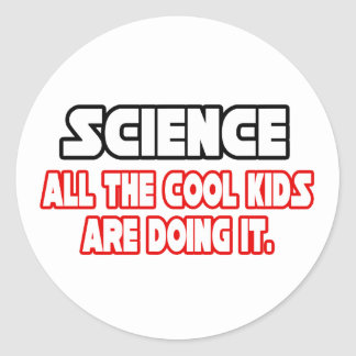 Science...Cool Kids Classic Round Sticker