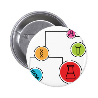 Science Data Chart 2 Inch Round Button