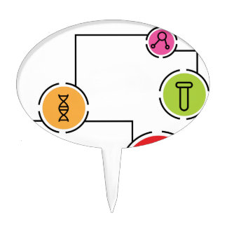 Science Data Chart Cake Topper