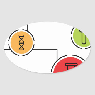 Science Data Chart Oval Sticker