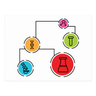 Science Data Chart Postcard