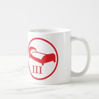 """science deprives me of my bed""-badge LEVEL III Coffee Mug"