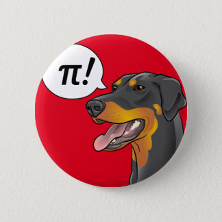 Science Dog Pi Doberman Great for Teachers button