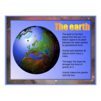 Science,  Earth Postcard