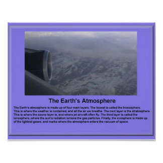 Science, Earth Science, Earth's Atmosphere Poster