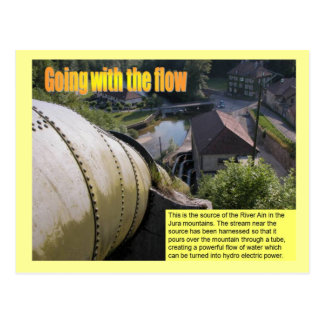 Science, Electricity Going with the flow Postcard
