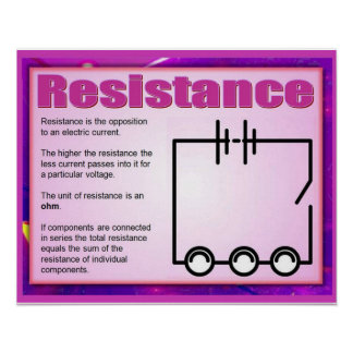 Science, Electricity, Resistance Poster