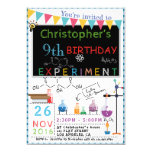 Hand shaped SCIENCE EXPERIMENT LABORATORY PARTY INVITATION