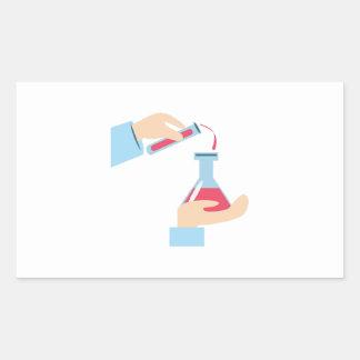 Science Experiment Rectangular Sticker