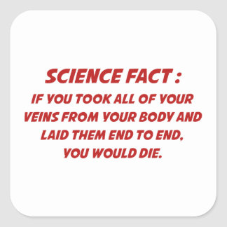 Science Fact Square Sticker