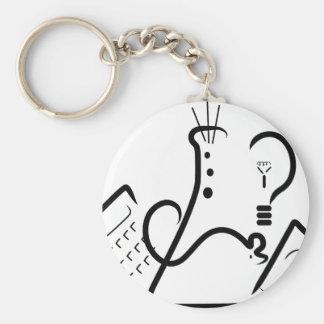 Science Fair Logo Basic Round Button Keychain