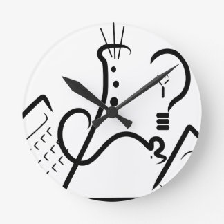 Science Fair Logo Round Clock