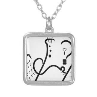 Science Fair Logo Silver Plated Necklace