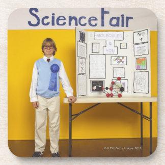 Science fair winner beverage coaster