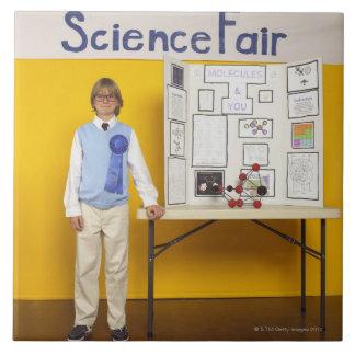 Science fair winner large square tile
