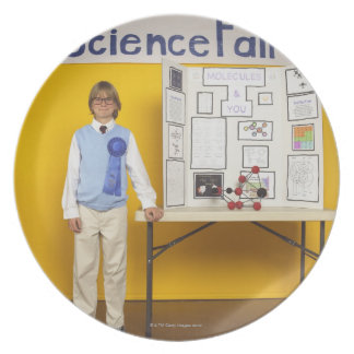 Science fair winner plate