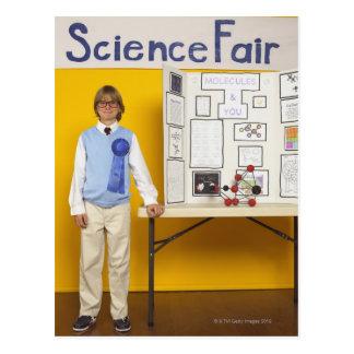 Science fair winner postcard