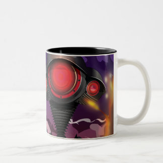 Science Fiction Alien Tripod Attack! Two-Tone Coffee Mug
