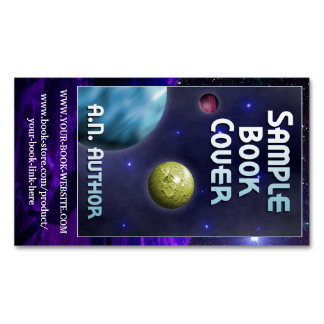 Science-Fiction Author Promotion with Book Cover Magnetic Business Cards (Pack Of 25)