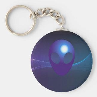 science fiction basic round button keychain