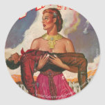 Science Fiction Collection Classic Round Sticker