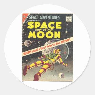 Science Fiction Comic  1 Classic Round Sticker