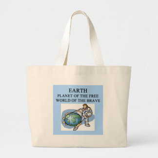science fiction design tote bag