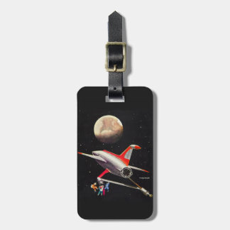 Science Fiction Galaxy Spaceship Astronauts Mars Luggage Tags