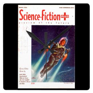Science Fiction Plus 1953-03_Pulp Art Square Wall Clock