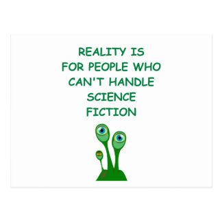 science fiction postcard