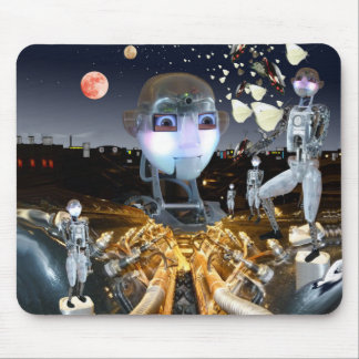 Science fiction robot butterfly theme mouse pad