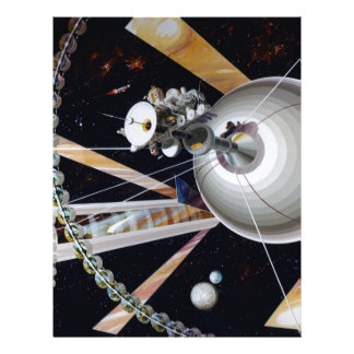 Science Fiction Space Station of Future Customized Letterhead