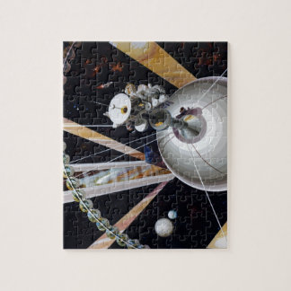 Science Fiction Space Station of Future Puzzle