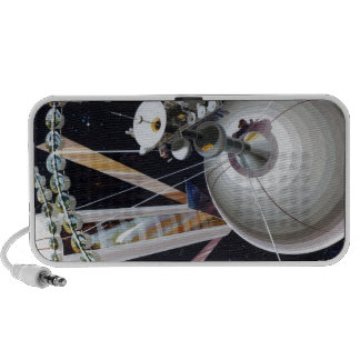 Science Fiction Space Station of Future Laptop Speakers