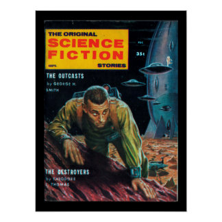 Science Fiction Stories - 1958.09_Pulp Art Poster