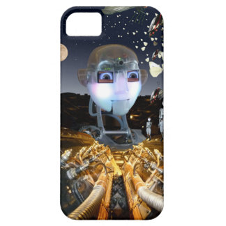 Science Fiction themes blend with nature iPhone SE/5/5s Case
