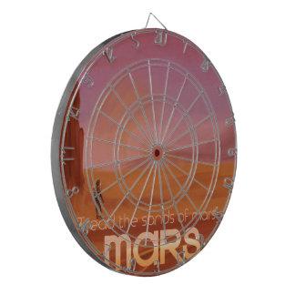 Science Fiction Vintage Mars Vacation Illustration Dartboard With Darts