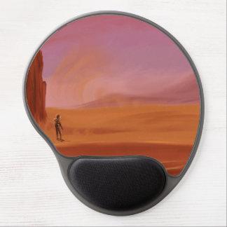 Science Fiction Vintage Mars Vacation Illustration Gel Mouse Pad