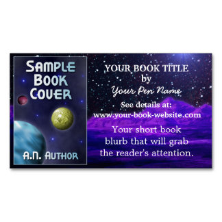 Science-Fiction Writer Author Book Promotion Space Magnetic Business Cards (Pack Of 25)