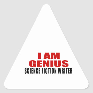 SCIENCE FICTION WRITER DESIGNS TRIANGLE STICKER