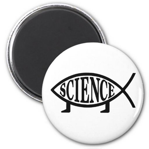Science Fish 2 Inch Round Magnet