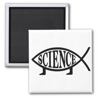 Science Fish 2 Inch Square Magnet