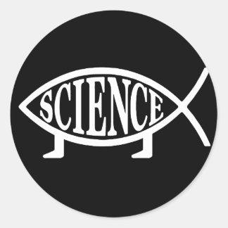 Science Fish Classic Round Sticker